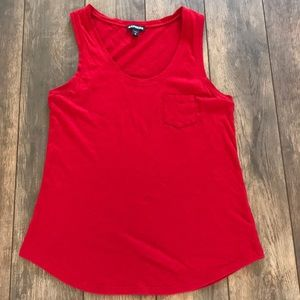 Express S Red Tank Top